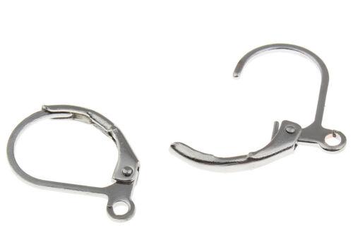 Argent 30 Ohrhaken pliante Brisuren Boucles d/'oreilles rond 15 mm Boucles d/'oreille mode m172#3