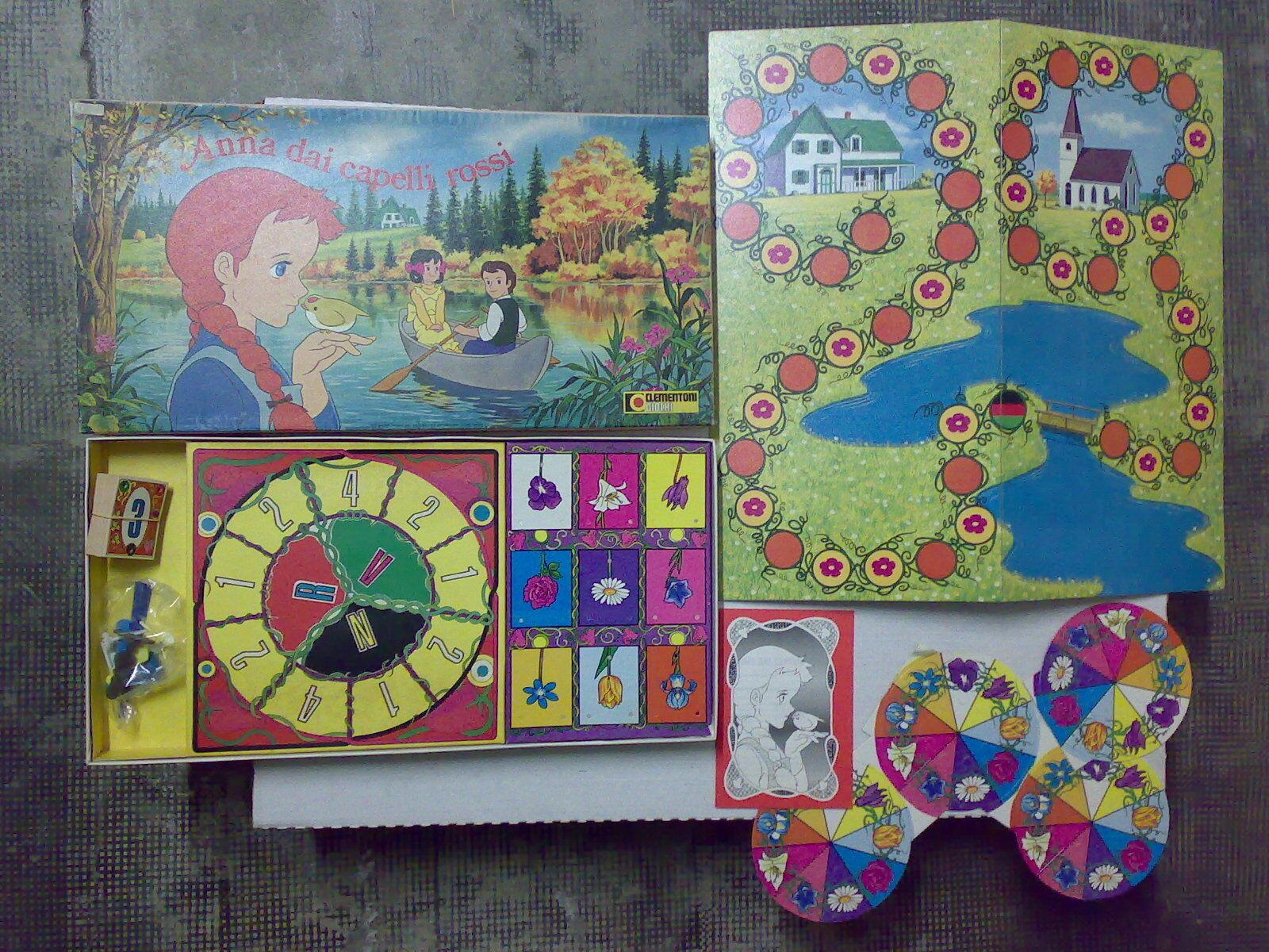 ANNA DAI CAPELLI ROSSI Clementoni MIB anni '80 赤毛のアン Gioco tavolo boardgame