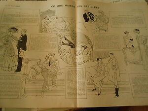 Ce Qu'elles Disent Les Oreillers ! Dessins De Touraine Print Art Déco 1907 Ngctomfb-07172551-169501986