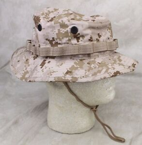 Details about NEW GENUINE USMC MARINE CORPS FIELD DESERT DIGITAL BOONIE HAT  - NO LOGO USA MADE 578aed8cba6