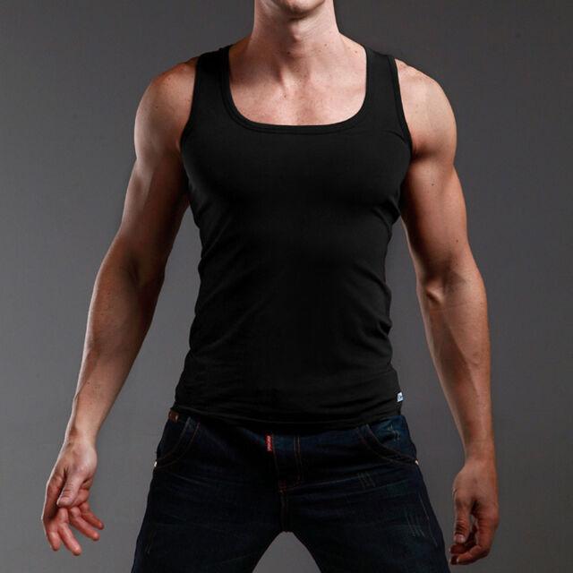 New Men Slim Fit Cotton Sport Muscle Vest Stylish Tank Tops Sleeveless Shirts