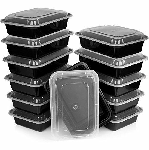 Heim Concept Premium Meal Prep Food Containers w  Lid 3 Compartment Reusable ...