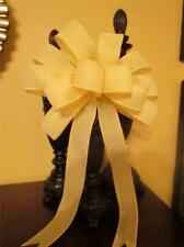"""10"""" Wide Soft Solid Yellow Bow Decoration~Easter Baskets~Wreaths~Door~Gifts"""