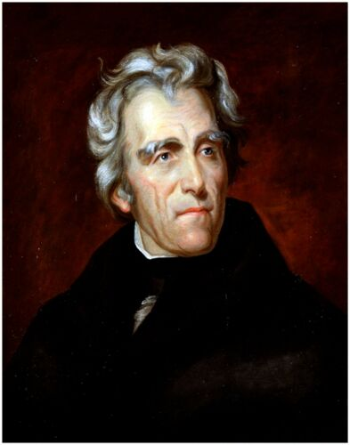 United States Famous Historic Portrait Art Reprint PRESIDENT ANDREW JACKSON  USA