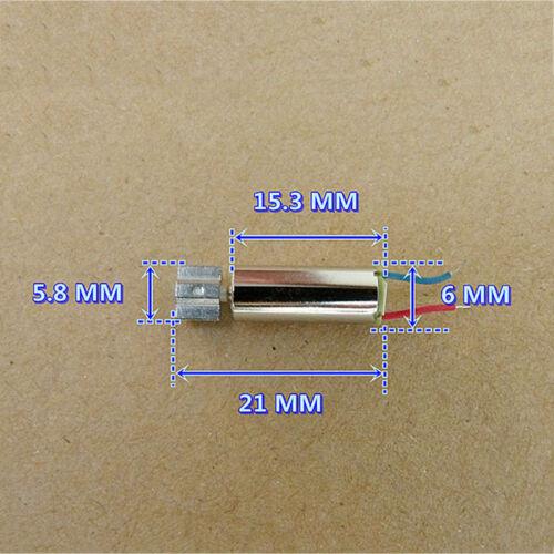 6mm*15mm Vibration tor DC 1.5V 3V 5V Strong Micro Coreless Vibrating Vibrator