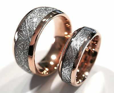 His And Her Ring Set Matching Couple Ring 7mm5mm Rose Gold Tungsten Rings Couple Promise Rings Couples Ring Set Couples Names Rings