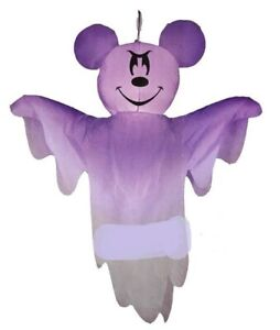 HALLOWEEN 4 FT DISNEY HANGING  MICKEY MOUSE GHOST Airblown Inflatable GEMMY