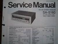 TECHNICS SA-5160 Stereo amplifier receiver Service manual wiring parts diagram