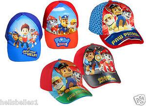 BOY S OFFICIAL ADJUSTABLE PAW PATROL SUMMER SUN BASEBALL CAP HAT 52 ... 57214abf1bbf