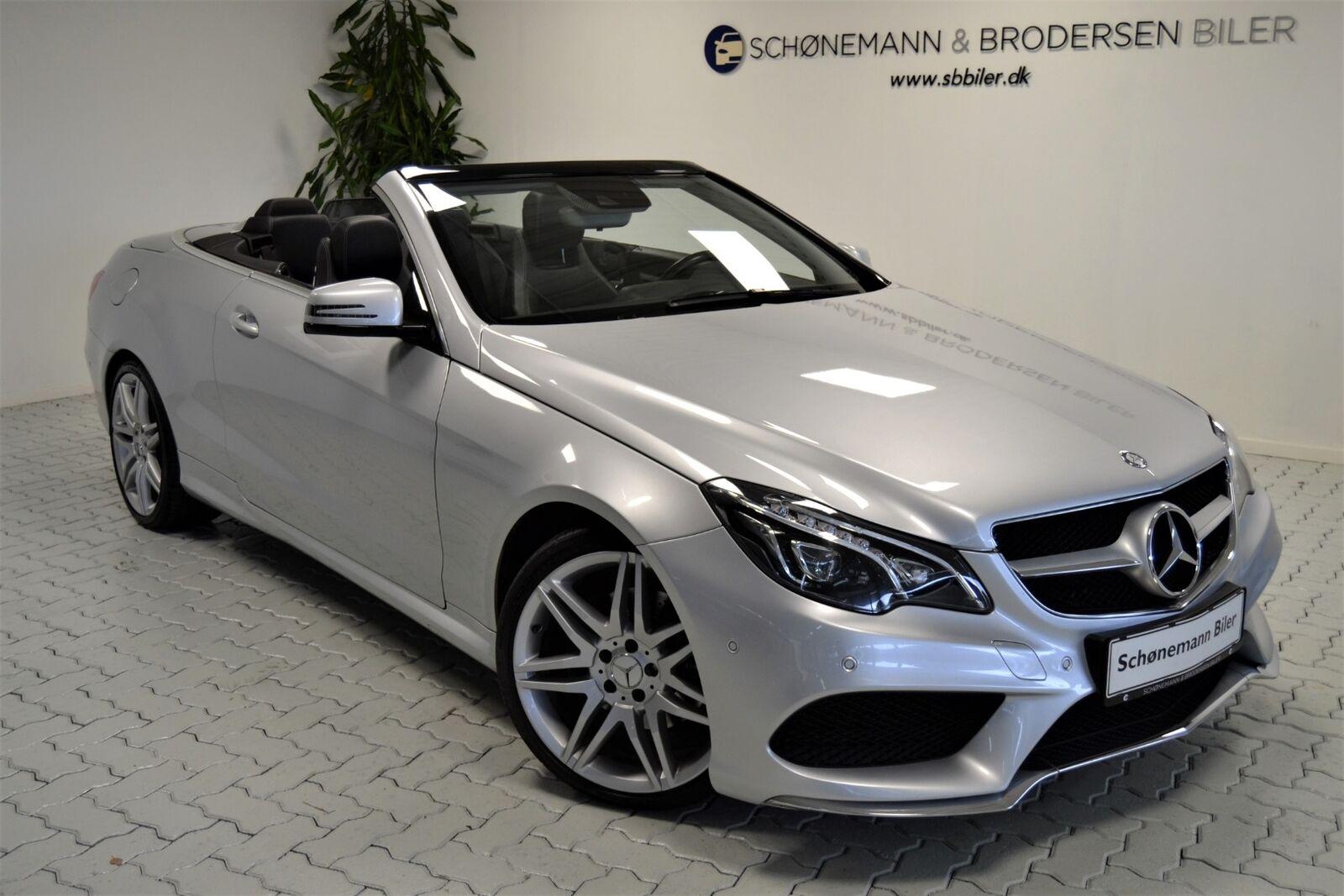 Mercedes E350 3,0 BlueTEC AMG Line Cabriolet aut 2d - 499.900 kr.