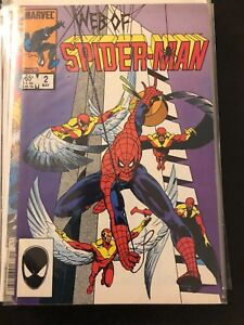 Web of spider man comic book