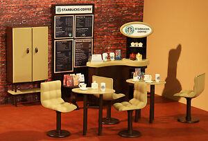 Image Is Loading BARBIE STARBUCKS COFFEE SHOP 1 6 OOAK CAFE