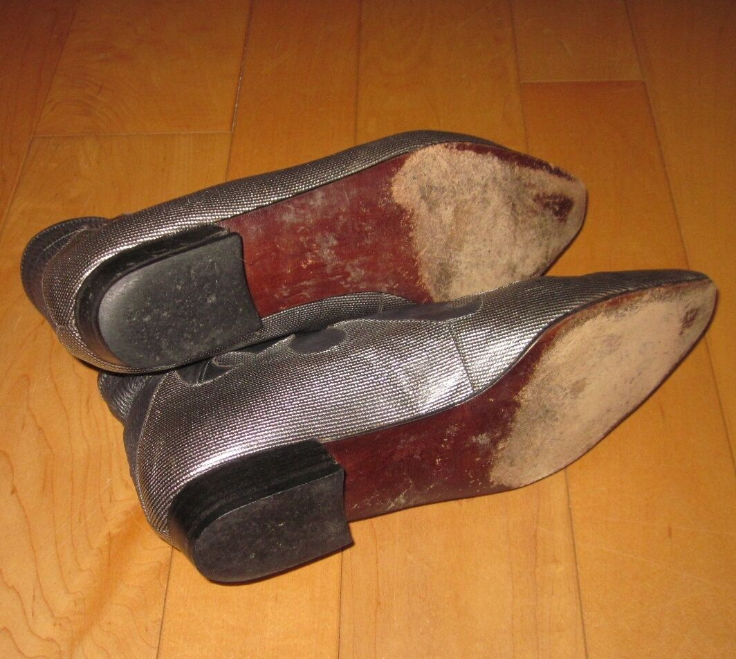Stuart Wms Gray Western Style Leder Fun Ankle Stiefel C Sz 8.5 SHARP Must C Stiefel 063843