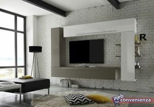 Line 1 Parete Attrezzata Moderna Soggiorno Porta TV   eBay