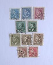 10 Canceled German Deutsches Reich Stamps Circa 1930's