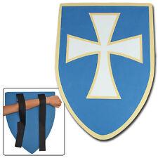 Medieval Knights Templar Regal Blue Cross Foam Cosplay LARP Kids Shield