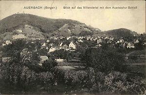 AUERBACH-Bergstrasse-Haeuser-Partie-Villenviertel-ca-1910-alte-Postkarte-Hessen
