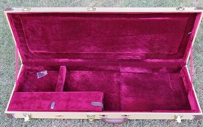 NEW HARD SHELL TWEED 6 STRING ELECTRIC GUITAR CASE FOR STRAT OR TELE