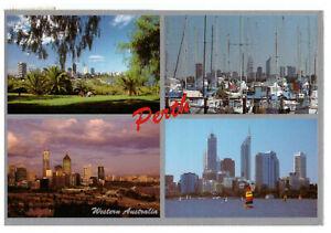 Perth-Western-Australia-Rare-Multiview-Postcard-Posted-15th-November-1993
