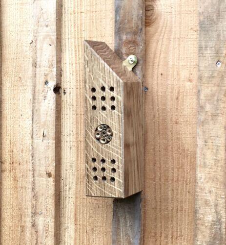 Bee House Insetto Casa fatto a mano da recuperata rovere Insetto Hotel Fauna Selvatica Home