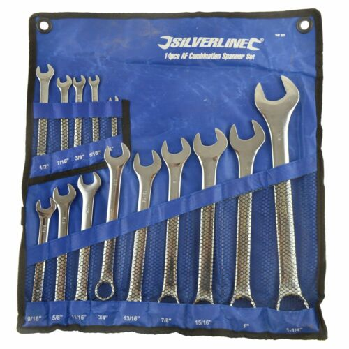 "14pc AF SAE Imperial Spanner Combination Wrench Open End Ring 1//4/"" 1-1//4/"""