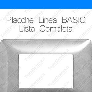 Placche-3-4-e-6-moduli-compatibili-Bticino-Matix-Linea-BASIC-in-ABS-colori