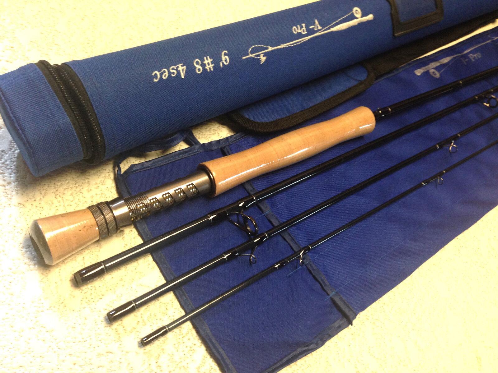 Mosca De Grafito V Pro Varilla 8 WT 9' 0  Tubo de 4 piezas de pesca IM10 Cordura