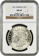 1921-P Morgan Silver Dollar NGC MS64
