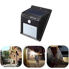 8 LED Solar Power PIR Motion Sensor Wall Light Outdoor Waterproof Garden Lamp