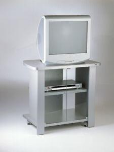 Carrelli Porta Tv Con Ruote.Dettagli Su Carrello Porta Tv Con Ruote E Antine In Vetro Modello Kleo 74silver Tecnidea