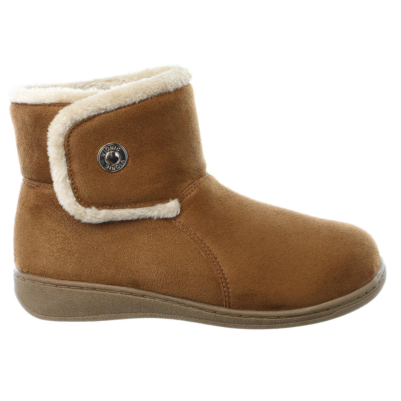 Vionic Vanah Boot Slippers  - 6 Chestnut - Womens - 6 - 4326d1