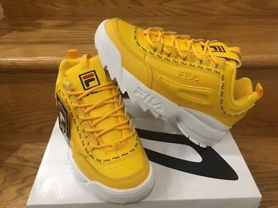 FILA Disruptor 2 PRM Repeat Canary Yellow White GS Girls Women Size 4Y 7Y NEW DS   eBay