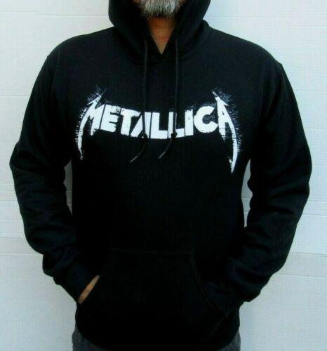 METALLICA LOGO HOODIES PUNK ROCK BLACK MEN/'s SIZES