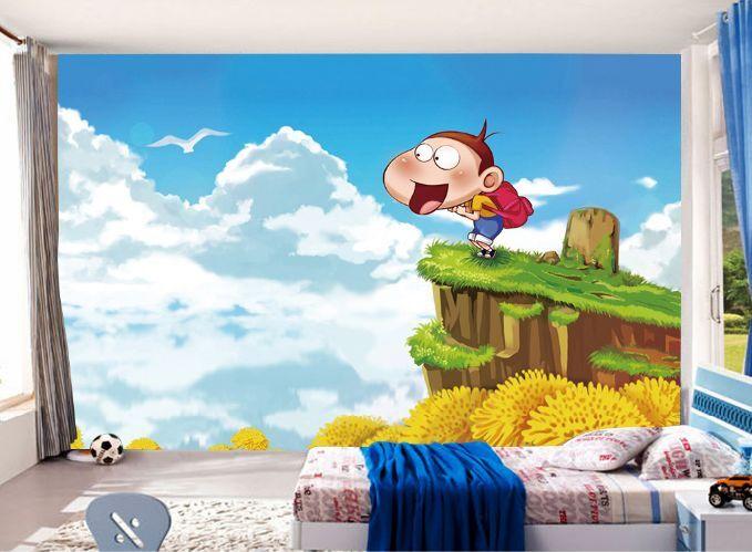 3D Netter frecher Junge 33 Fototapeten Wandbild Fototapete BildTapete Familie