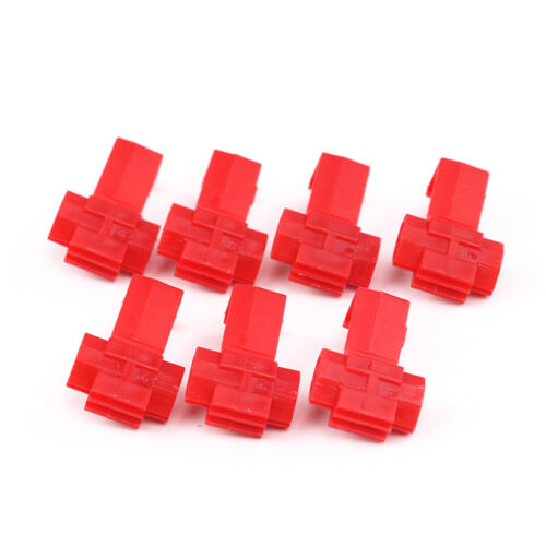 x50 Red Scotch Lock Wire Connectors Quick Splice Terminals Crimp Electrical Kit
