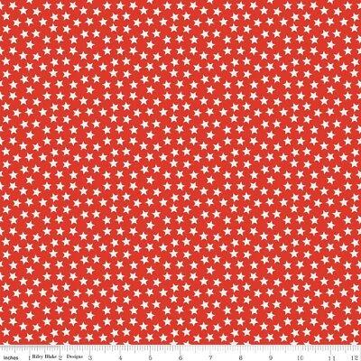 Riley Blake Fabrics4u2 Half yard Multi Cream Mini Star Lucky Star