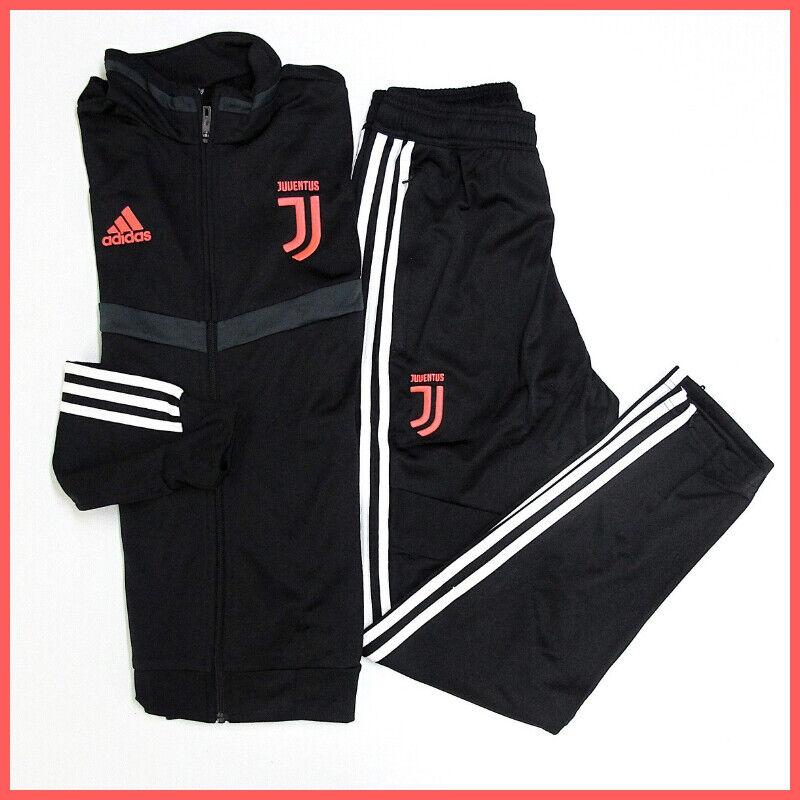 Adidas Anzug Offizielle Juventus DX9118 Schwarz Farbe Weiß Meisterschaft