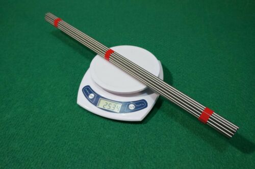 """4.5mm Dia Titanium 6al-4v round bar .177/"""" x 20/"""" Ti Gr.5 grade 5 Alloy rod 20pcs"""