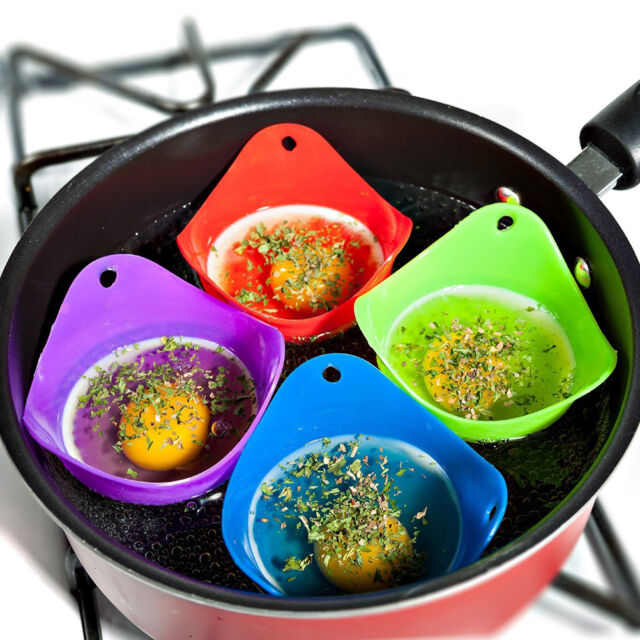 Silicone Egg Poacher Cook Poach Pods Kitchen Cookware Poached Baking Cup、PME