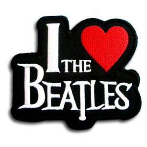 i love the beatles patch iron on harley music biker band logo rider rh ebay com greatest punk rock band logos metal and punk rock band logos