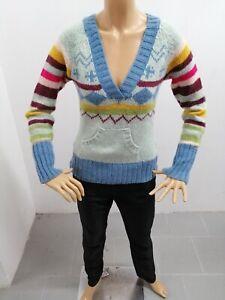 Maglione-ONLY-Donna-Taglia-Size-M-Sweater-Woman-Pull-Femme-Maglia-Lana-P-7339