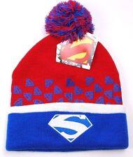 DC COMICS KNIT POM POM WINTER CAP HAT/BEANIE/TOQUE - SUPERMAN