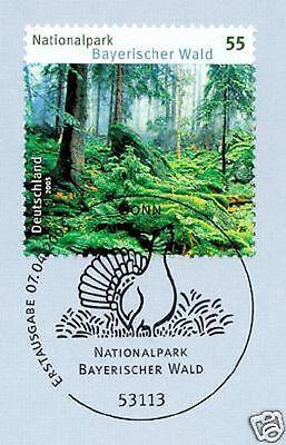 Gerade Brd 2005: Bayerischer Wald Nr. 2452 Mit Bonner Ersttags-sonderstempel! 1a! 1906 üPpiges Design