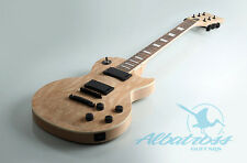 DIY Mahogany Set In Electric Guitar Kit Spalted Maple Veneer Project G057