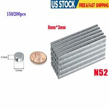 150200x For Warhammer Craft Neo Neodymium Disc 8x3 Mm Rare Earth N52 Magnets Us