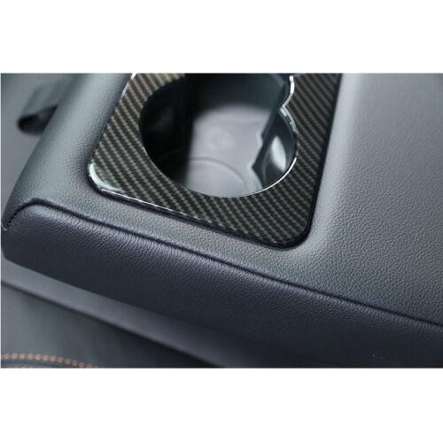 Carbon Style Rear Armrest Cup Holder Cover Trim fit For Jaguar F-pace 2016-2018