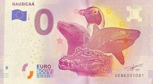 BILLET 0  EURO NAUSICAA 2   FRANCE   NUMERO DIVERS