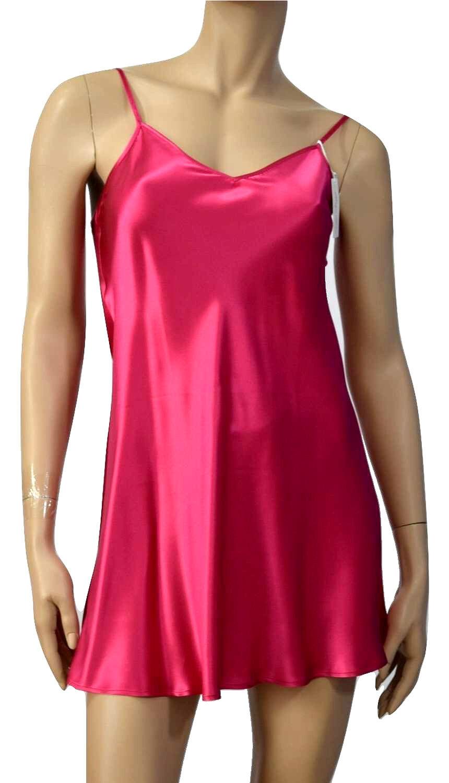 MARJOLAINE BABYDOLL DRESS 100% silk & dentelle Sizes S a XL Pink & White