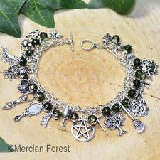 The Witches Charm Bracelet - Verdant Earth - Pagan Jewellery, Wicca, Witchcraft