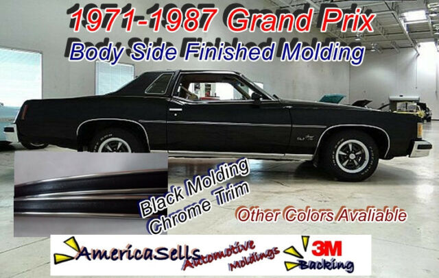 1960-1987  PONTIAC GRAND PRIX LEMANS GTO FACTORY STYLE BODY SIDE MOLDING